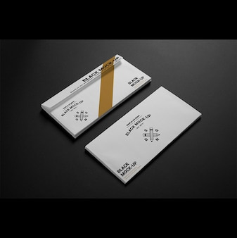 Busta commerciale mock up di progettazione