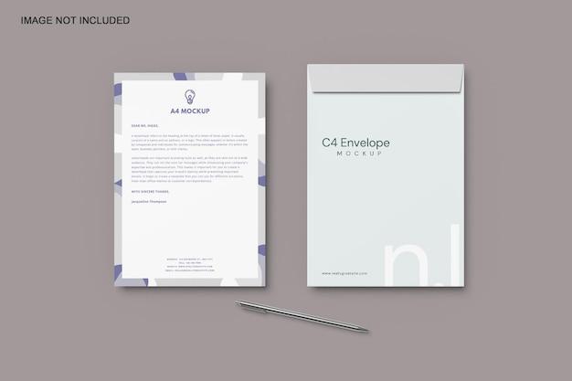 C4 envelop mockup