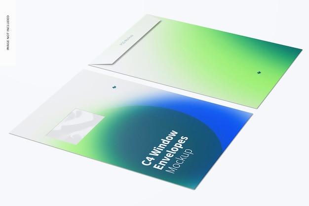 C4 venster envelop mockup linkeraanzicht