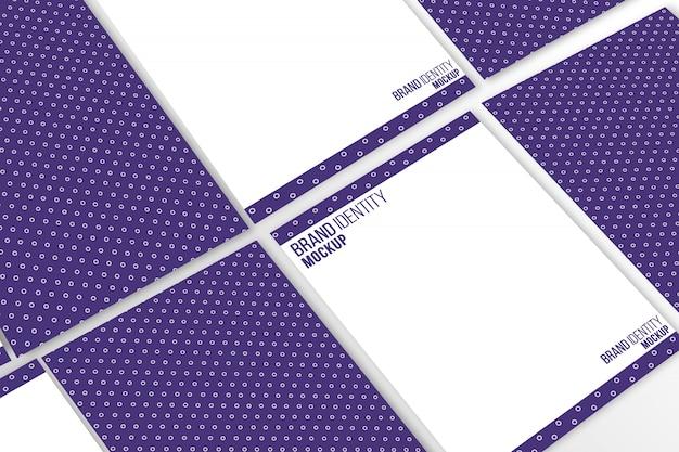 Cabeza de carta tamaño a4 maqueta presentación