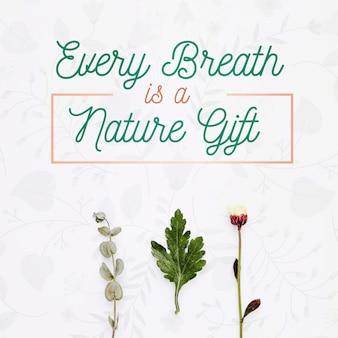 Cada respiración es un concepto de regalo natural