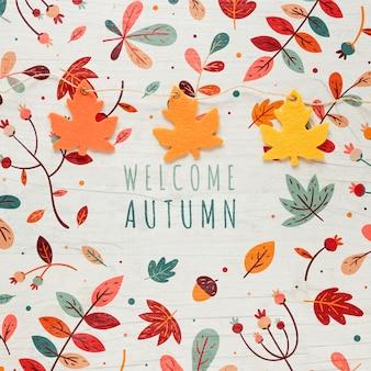 Cadena deja con bienvenida cita de otoño