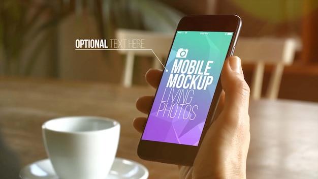Cafe mobile mockup