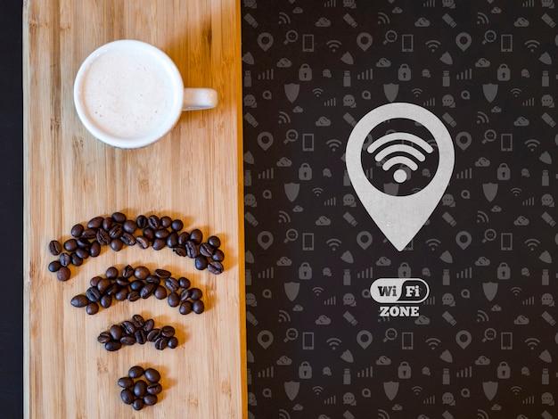 Caffè del mattino e connettività 5g veloce