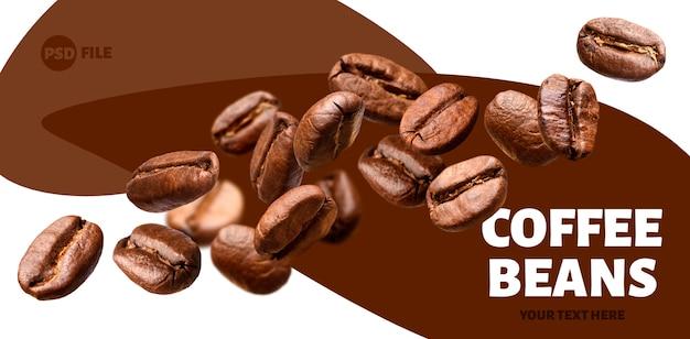 Caída de granos de café