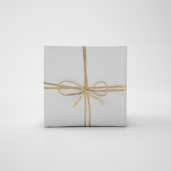 Caja blanca con cordón