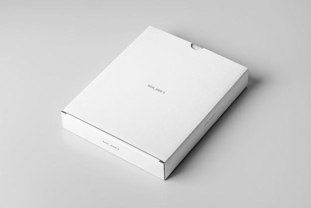 Caja de cartón plano maqueta