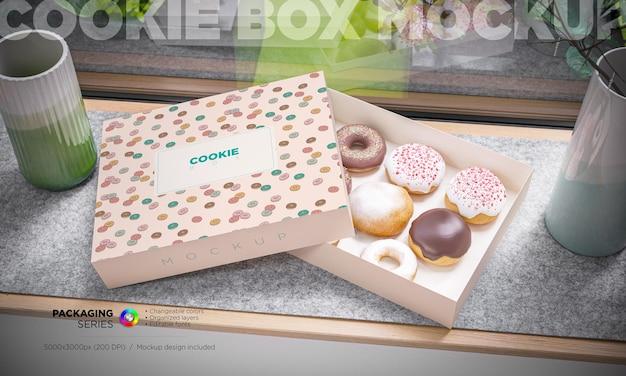 Caja de cupcakes y maqueta de marca.