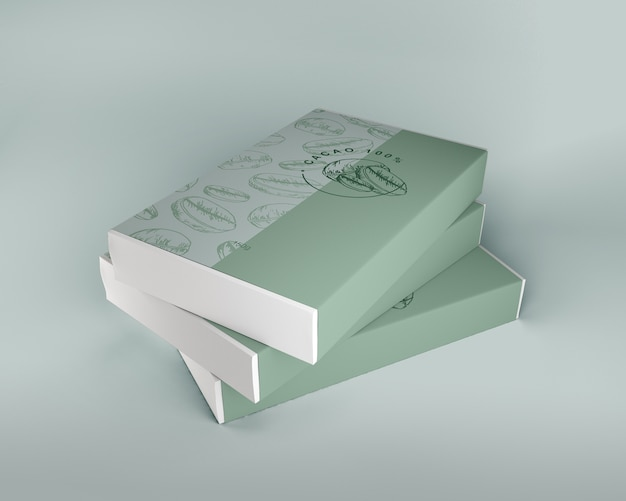 Caja ordenada de maqueta de chocolate