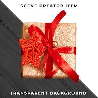 Caja de regalo aislada con trazado de recorte.