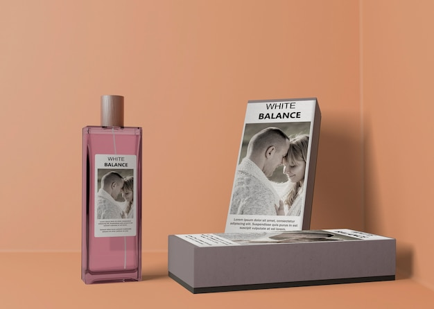 Cajas de perfume y frasco de perfume rectangular