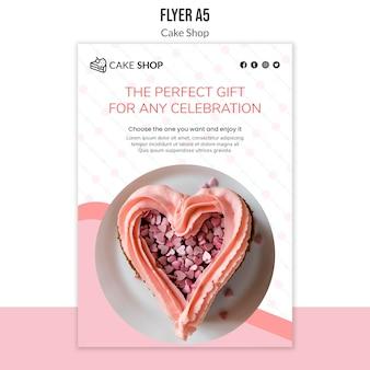 Cake shop concept flyer sjabloon