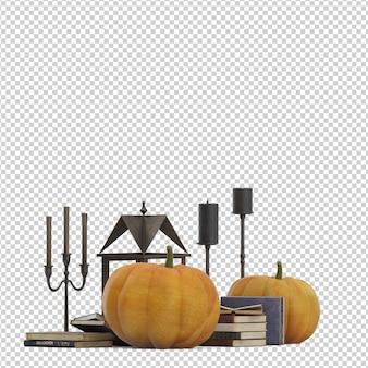 Calabaza de decoración isométrica