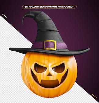 Calabaza de halloween 3d para maquillaje