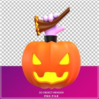 Calabaza hallowen modelo 3d