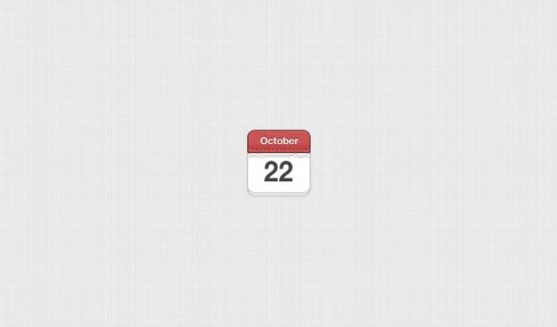 Calendario de blog de la fecha de cuero cosido meses mini-interfaz de usuario