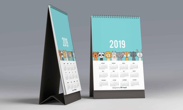 Calendario de escritorio maqueta
