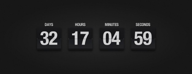 Calendario flop con numero di giorni