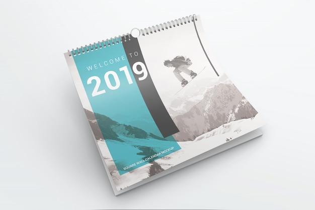 Calendario de pared maqueta
