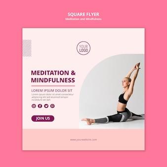 Calma il poster quadrato di meditazione mentale