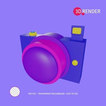 Cámara de icono de renderizado 3d