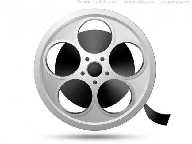 Cámara de rollo de película icono de psd