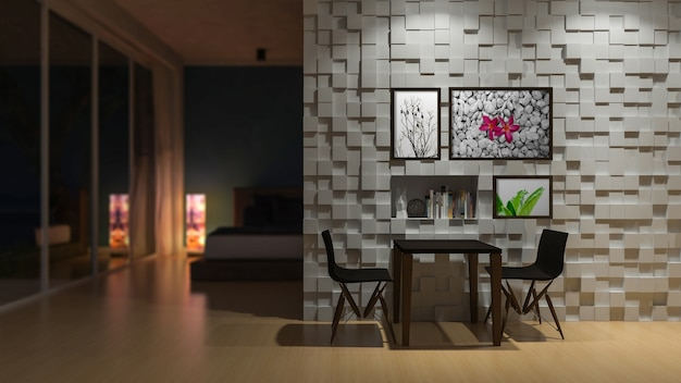 Camera da letto 3d