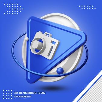 Camerapictogram in 3d-rendering