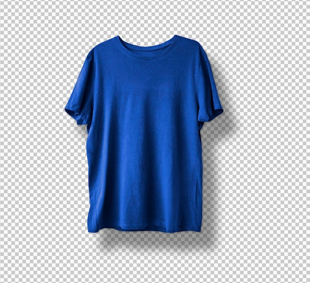 Camiseta azul aislada