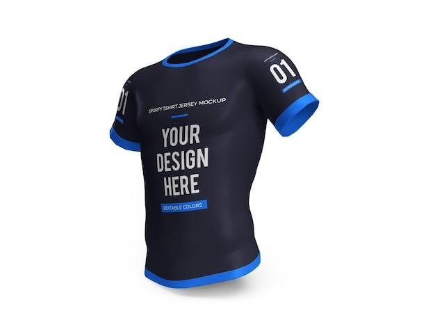 Camiseta deportiva jersey 3d mockup aislado