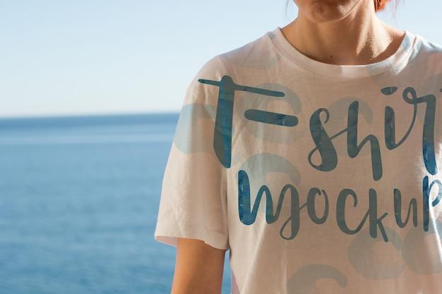 Camiseta maqueta de diseño
