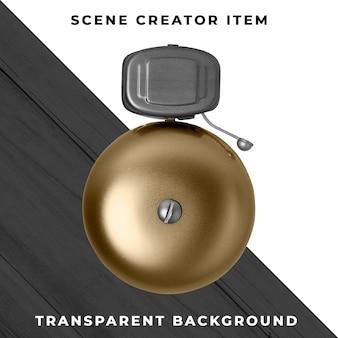 Campana de anillo objeto transparente psd