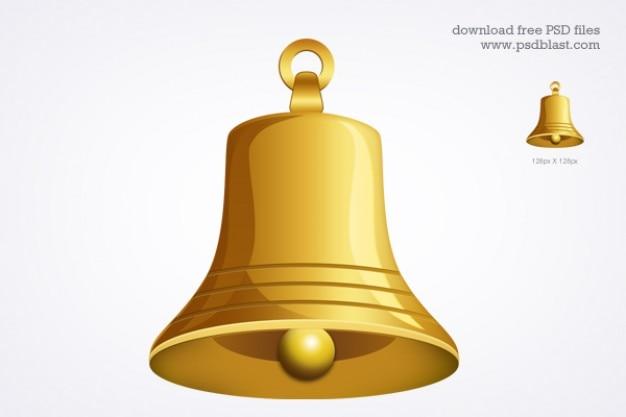 Campana d'oro icona psd
