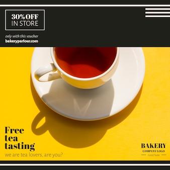 Campaña de marketing empresarial para el té.