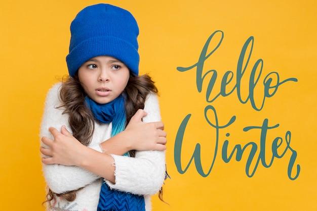 Campaña de marketing para rebajas de invierno.