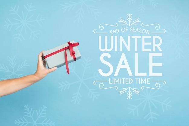 Campaña de marketing de rebajas de invierno