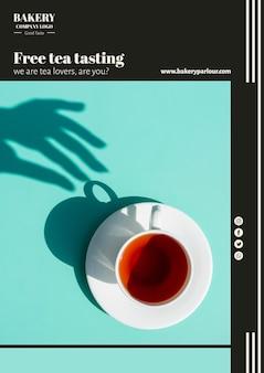 Campaña promocional de marketing para el negocio del té