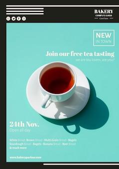 Campaña publicitaria de marketing para el negocio del té