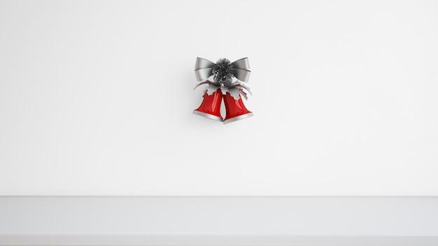 Campanas de navidad con cinta decorativa