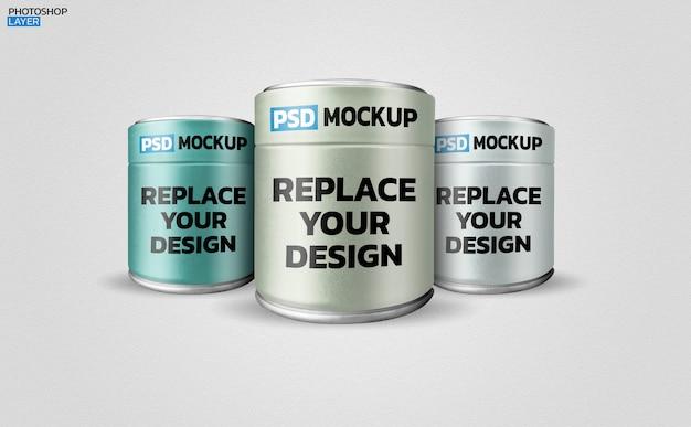 Can mockup 3d rendering design