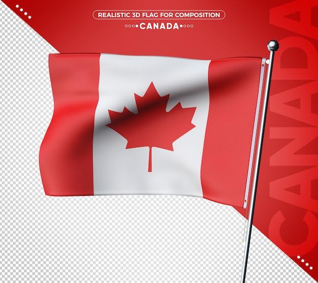 Canada 3d geweven vlag voor samenstelling