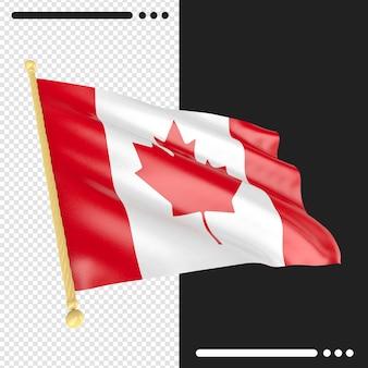 Canada vlag weergave geïsoleerd
