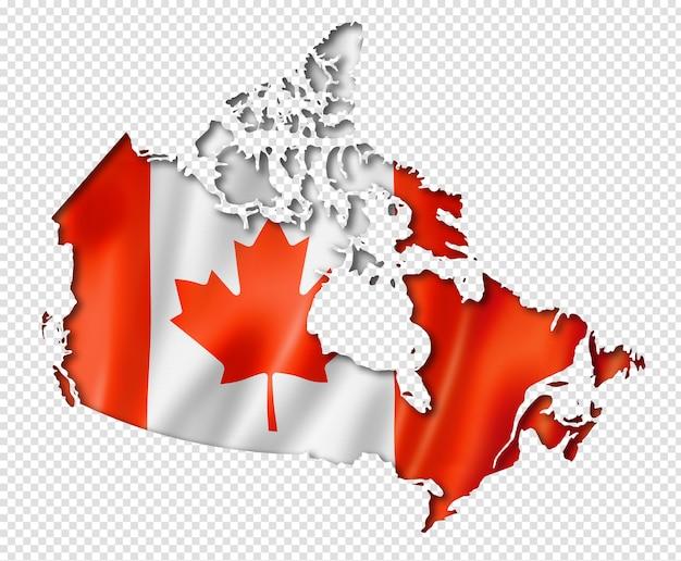 Canadese vlag kaart