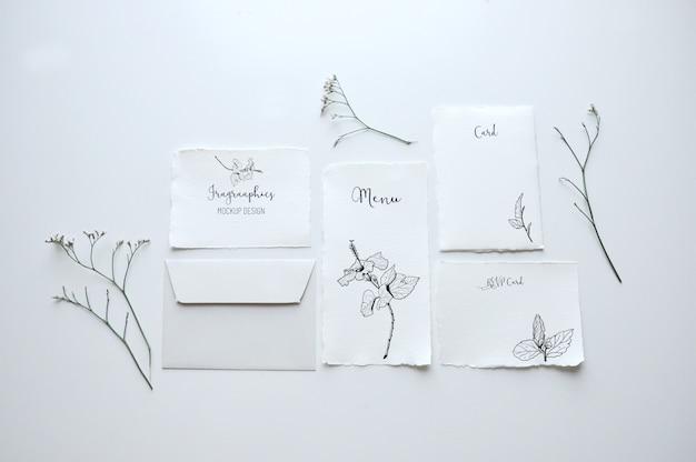 Cancelleria di carta mock up design