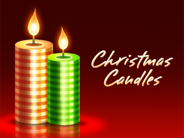 Candele di natale psd download