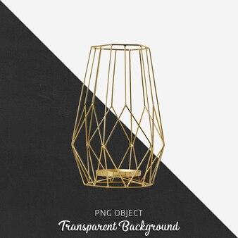 Candelero dorado en transparente