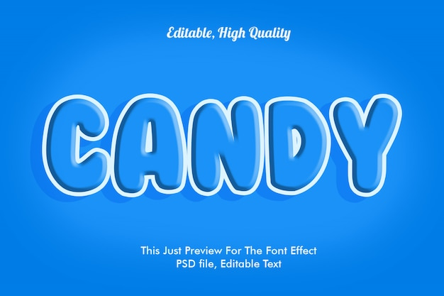 Candy lettertype effect sjabloon