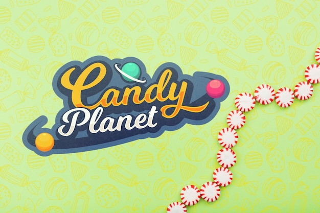 Candy planet shop con gocce di caramelle
