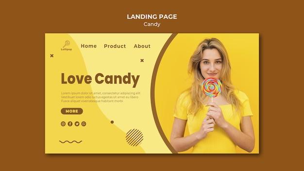 Candy shop bestemmingspagina sjabloon