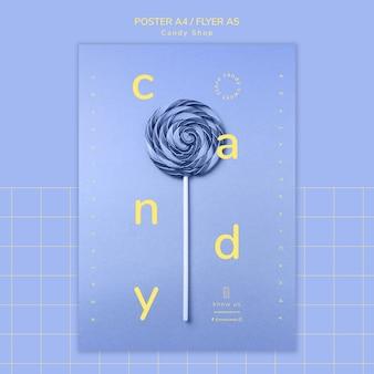 Candy shop poster concept voor sjabloon